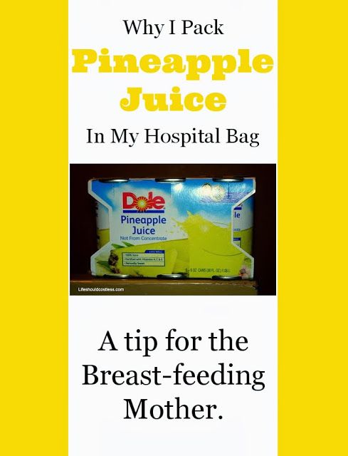 Pineapples Juice Breastfeeding