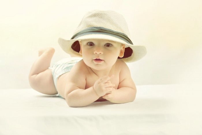 Daddy's Straw Hat Baby