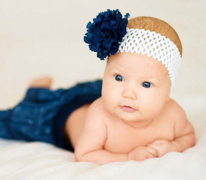 Sweet Little Girl with a Headband