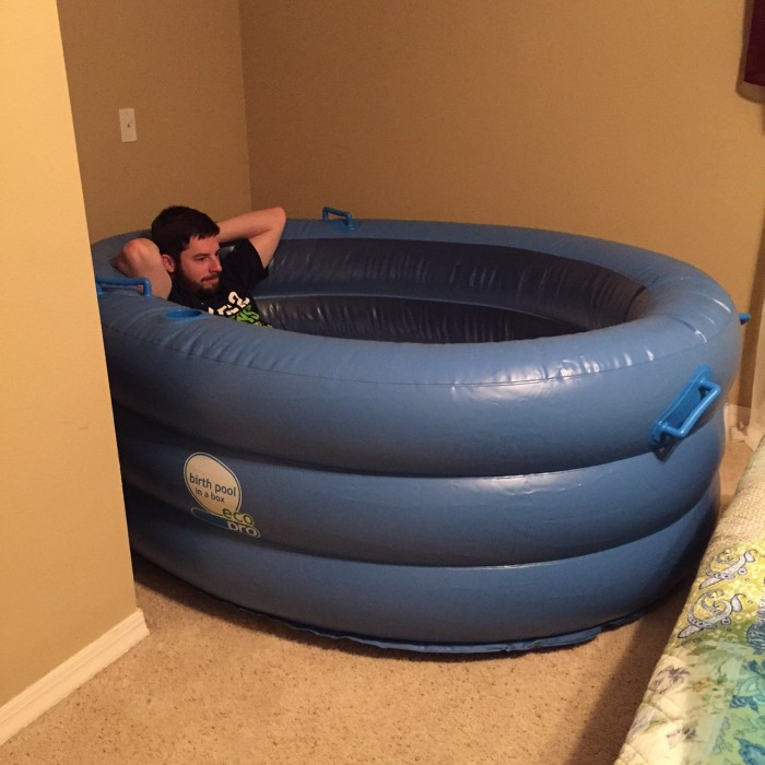 daddy in birthing pool
